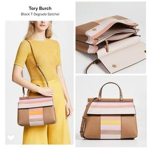 TORY BURCH Block T Degrade Satchel